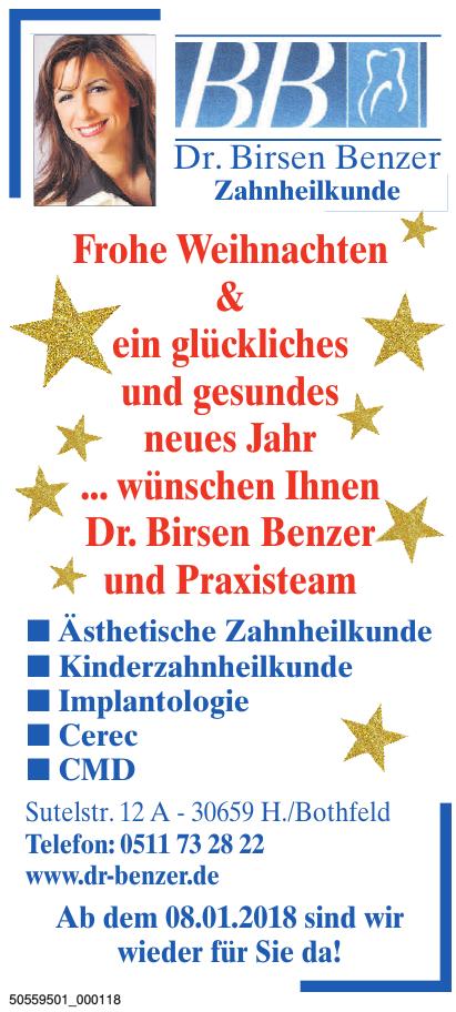 Dr. Birsen Benzer Zahnheilkunde