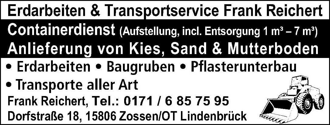 Erdarbeiten & Transportservice Frank Reichert