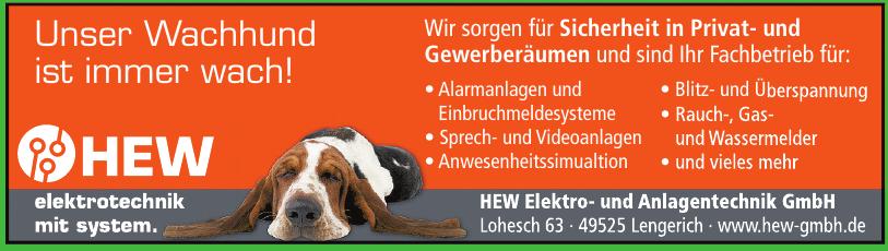 HEW Elektro- und Anlagentechnik GmbH