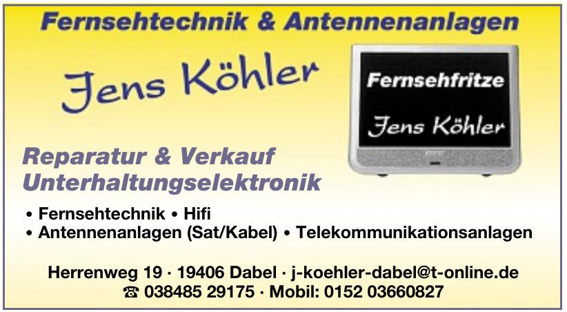 Jens Köhler Fernsehtechnik & Antennenanlagen