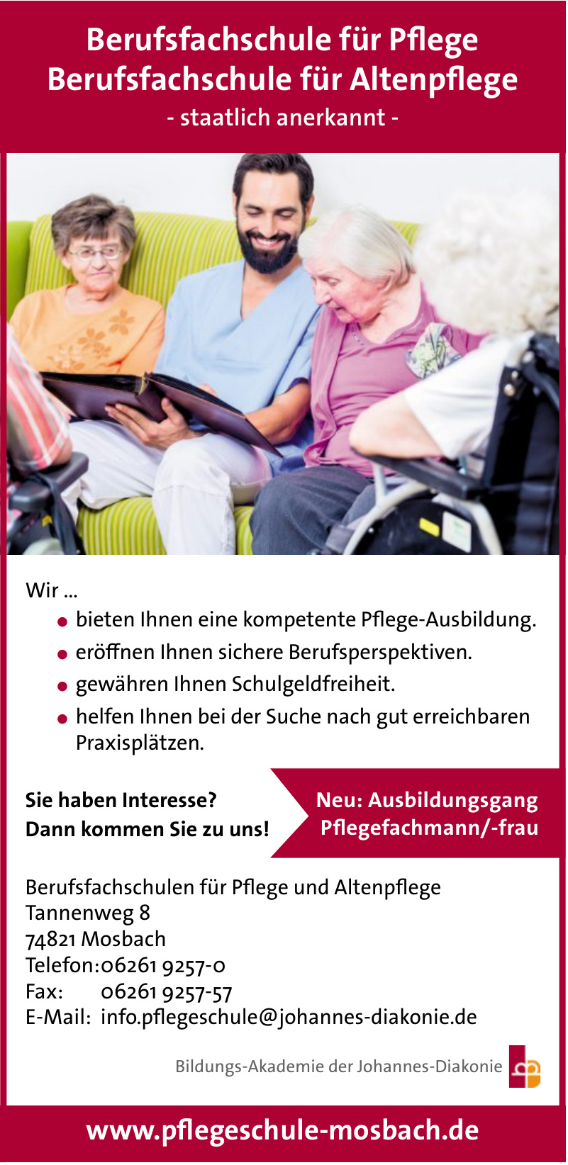 Berufsfachschulen für Pflege und Altenpflege