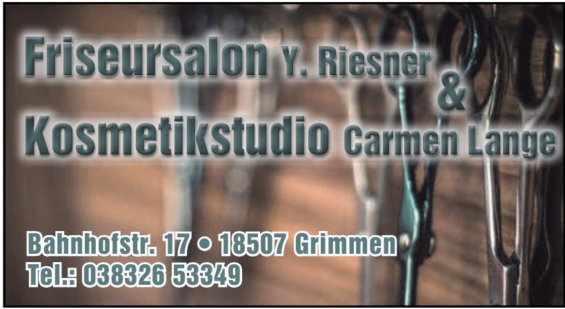 Friseursalon Y. Riesner & Kosmetikstudio Carmen Lange