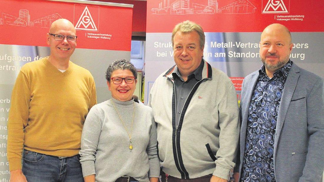 Wolfgang Kuznik, Ina Stolzenburg, Frank Paetzold und Olaf Winkler (v. l.)