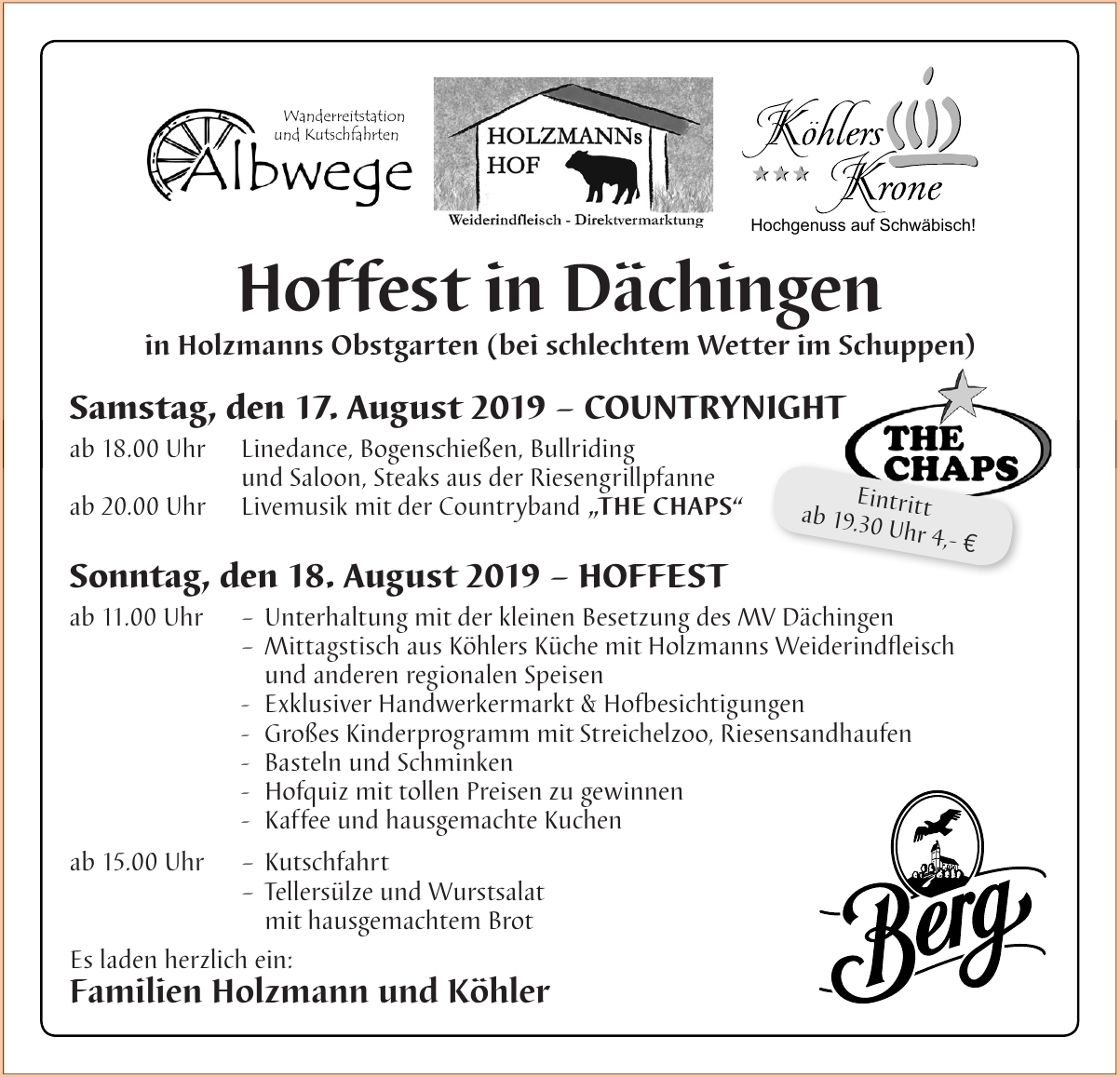 Hoffest in Dächingen