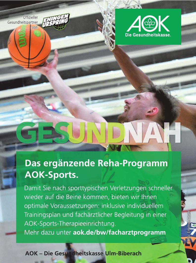 AOK - Die Gesundheitskasse Ulm-Biberach