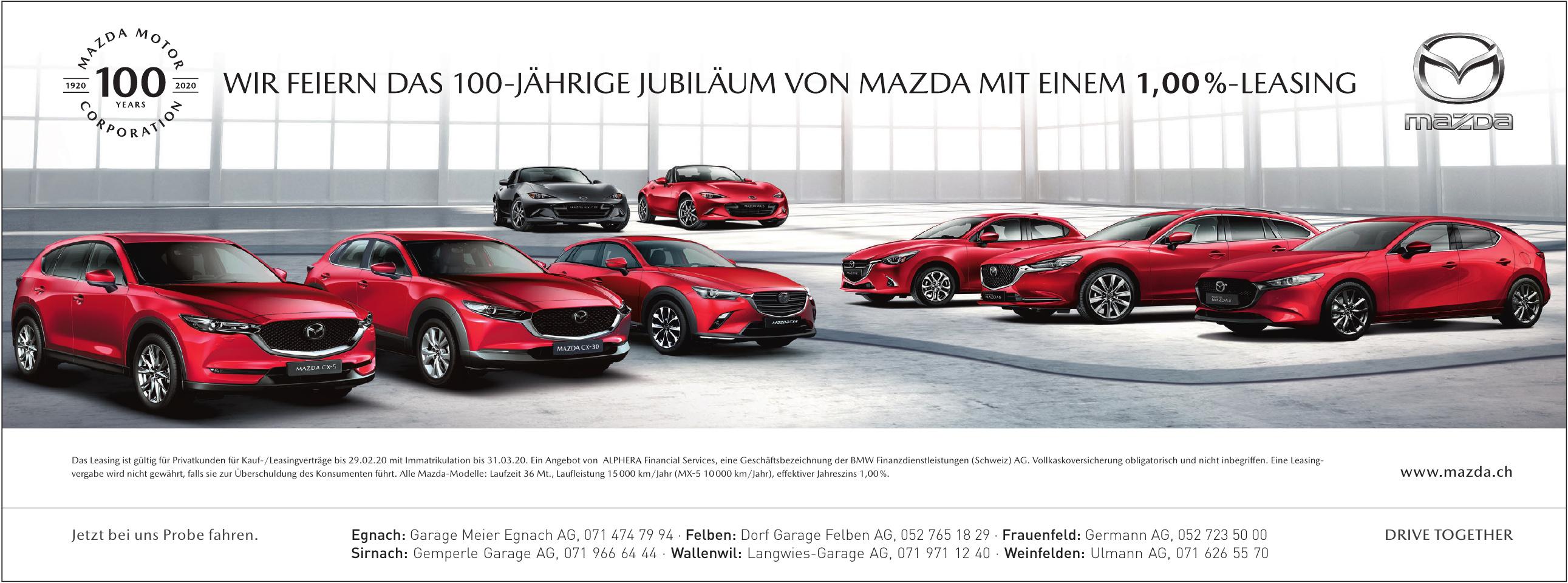 Mazda - Garage Meier Egnach AG