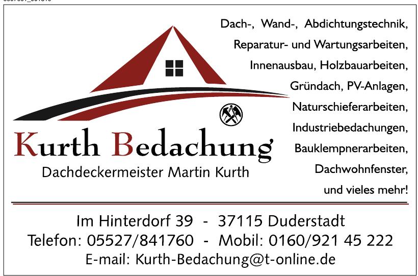 Kurth Bedachung Dachdeckermeister Martin Kurth