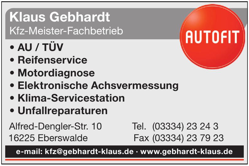 Autofit Klaus Gebhardt