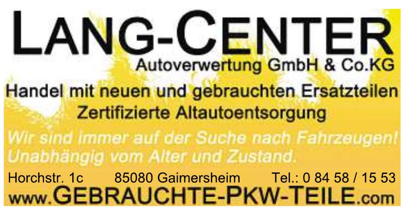Lang-Center Autoverwertung GmbH & Co. KG
