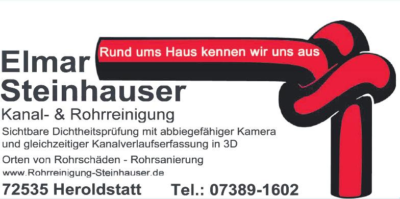Elmar Steinhauser - Kanal- & Rohrreinigung