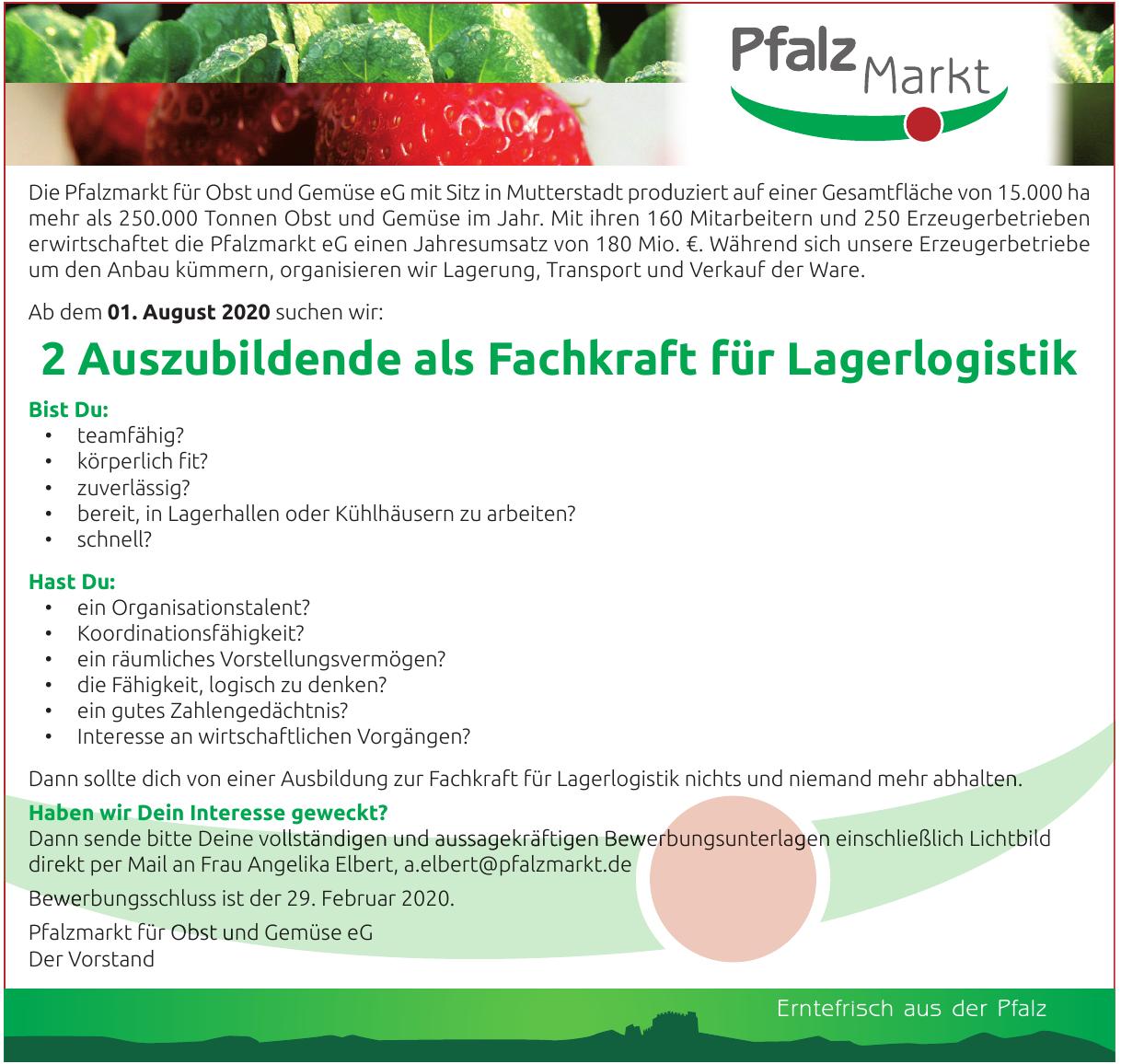 Pfalzmarkt für Obst und Gemüse eG