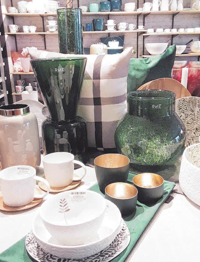 Geschirr und Wohnaccessoires bei Kicherer Home. FOTO: KICHERER