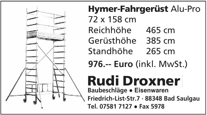 Rudi Droxner