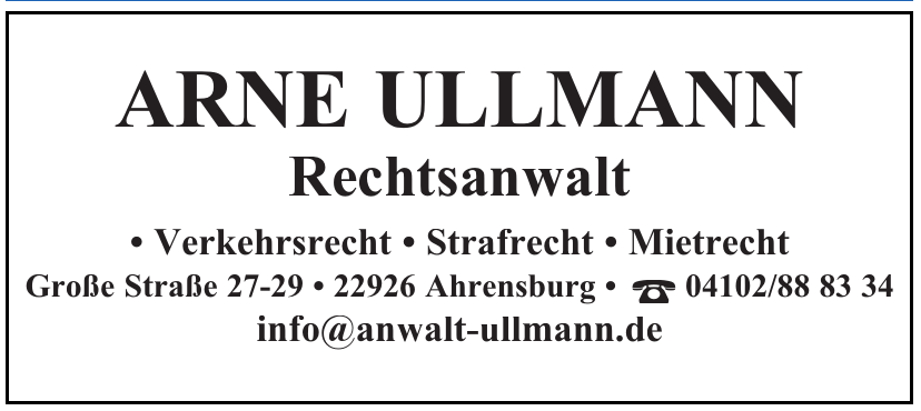 Arne Ullmann Rechtsanwalt