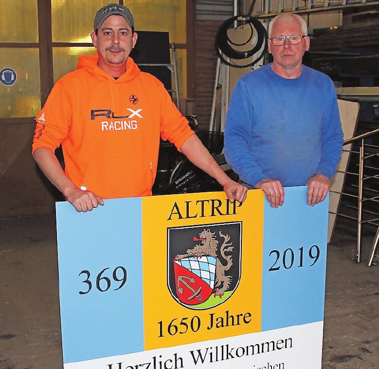 Die Leistungsgemeinschaft unterstützt die Gemeinde bei Arbeiten rund ums Jubiläum, versichern Vorsitzender Jürgen Grieb (rechts) und Stellvertreter Volker Mansky. FOTO: MÖBUS