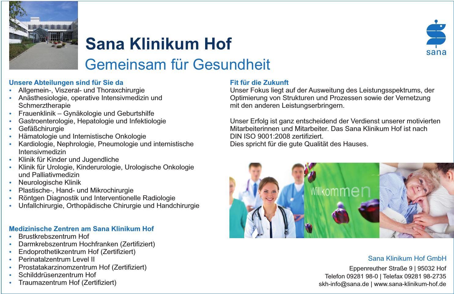 Sana Klinikum Hof GmbH