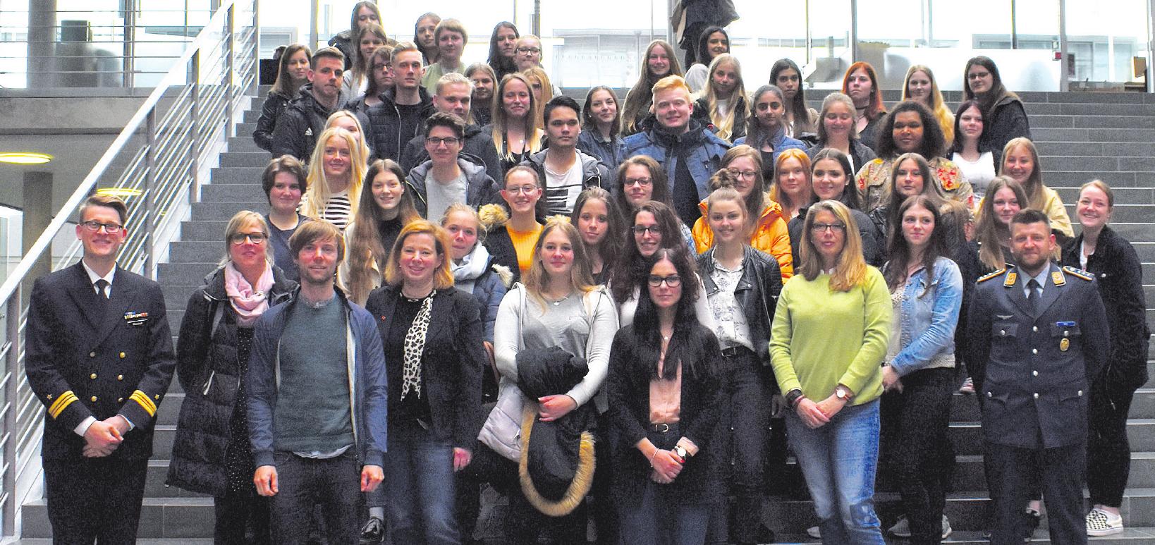 Die Schülerinnen und Schüler in Berlin. Foto: Susanne Völkers