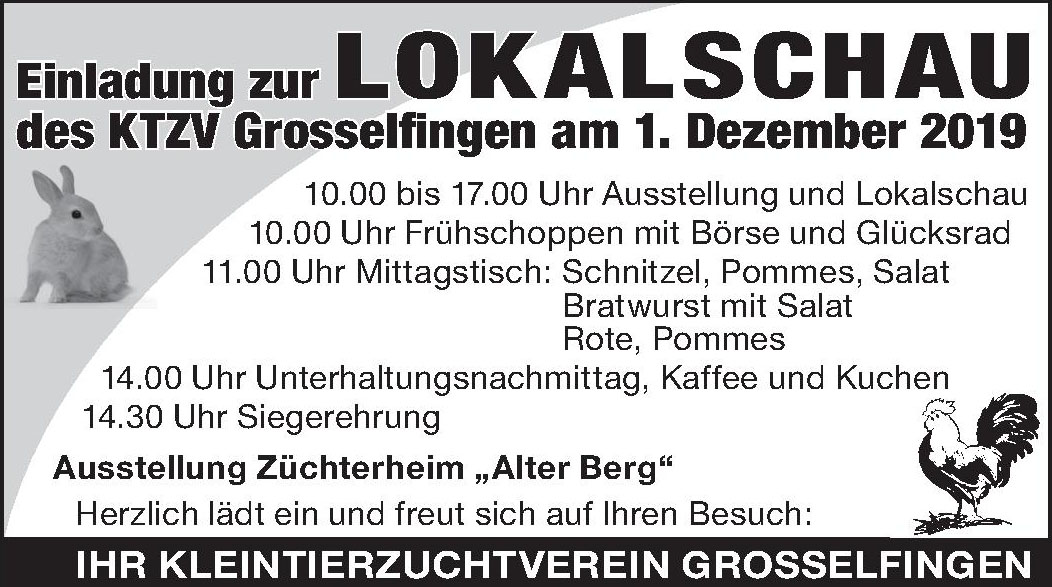 Einladung zur Lokalschau