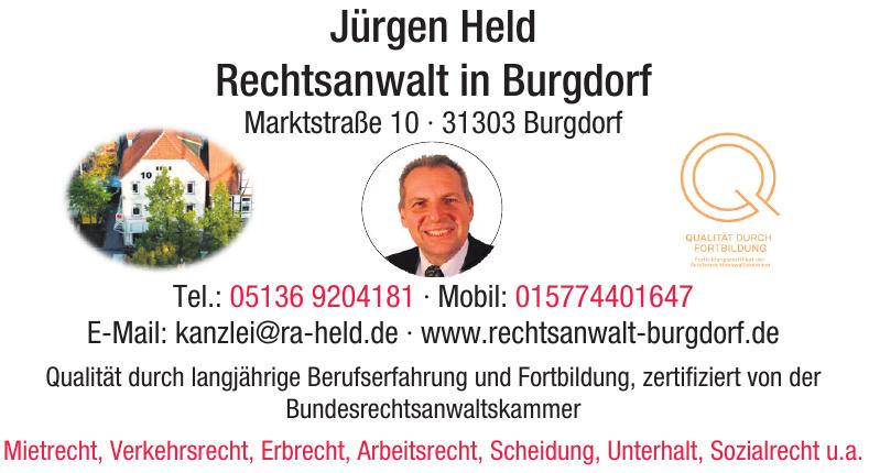Jürgen Held Rechtsanwalt in Burgdorf