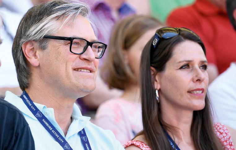 Tennisfan Alexander Otto mit seiner Ehefrau Dorit. Foto Alexander Scheuber/ Hamburg European Open