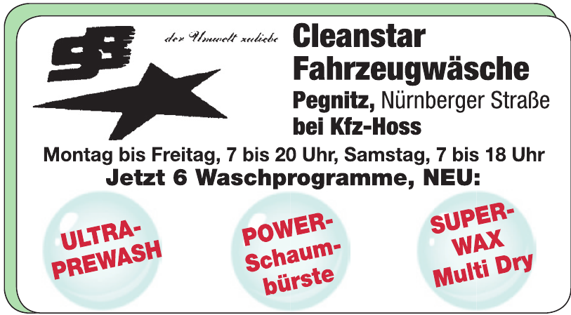 Cleanstar Fahrzeugwäsche