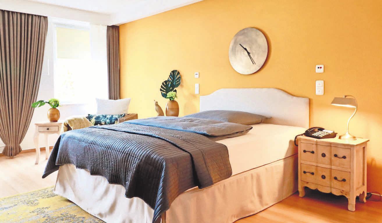 Die Appartments sind stilvoll eingerichtet und lassen viel Raum für persönliche Dinge.