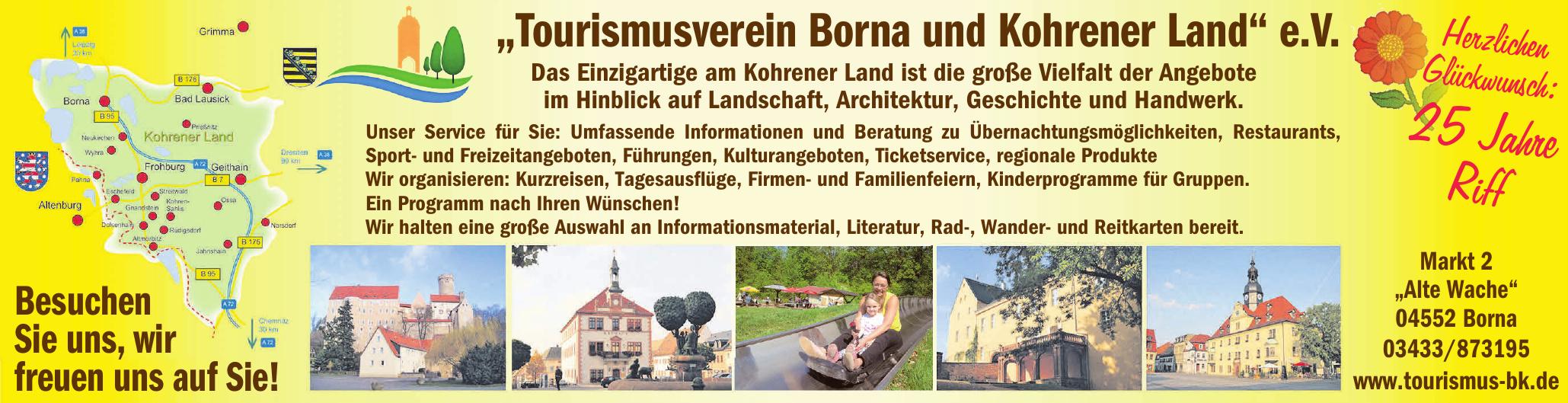 """""""Tourismusverein Borna und Kohrener Land"""" e.V."""