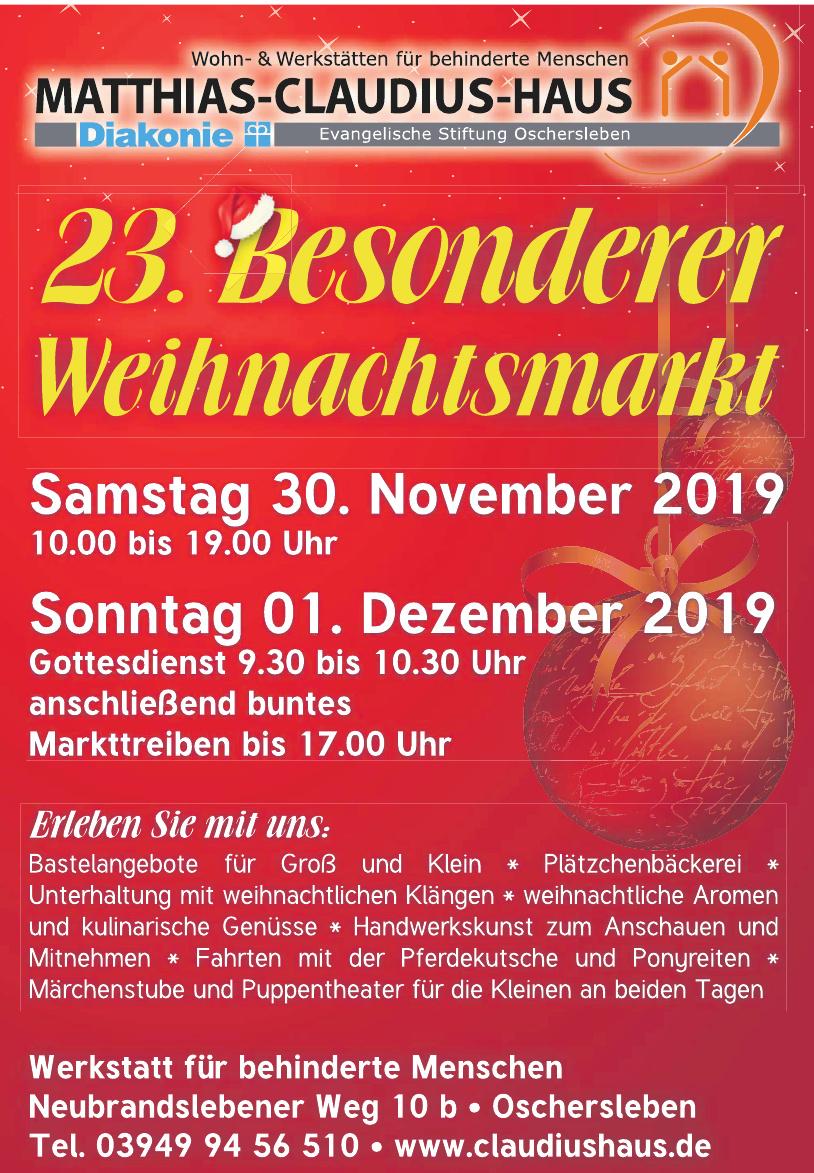 Matthias-Claudius-Haus-Stiftung Oschersleben