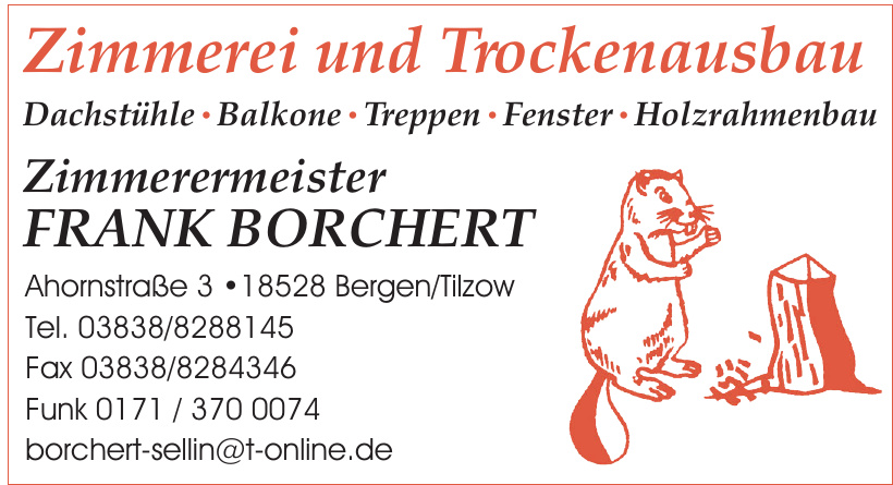 Zimmerermeister Frank Borchert