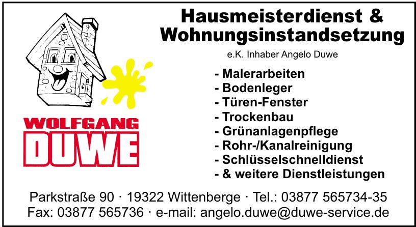 Duwe Wolfgang Hausmeisterdienst & Wohnungsinstandsetzung