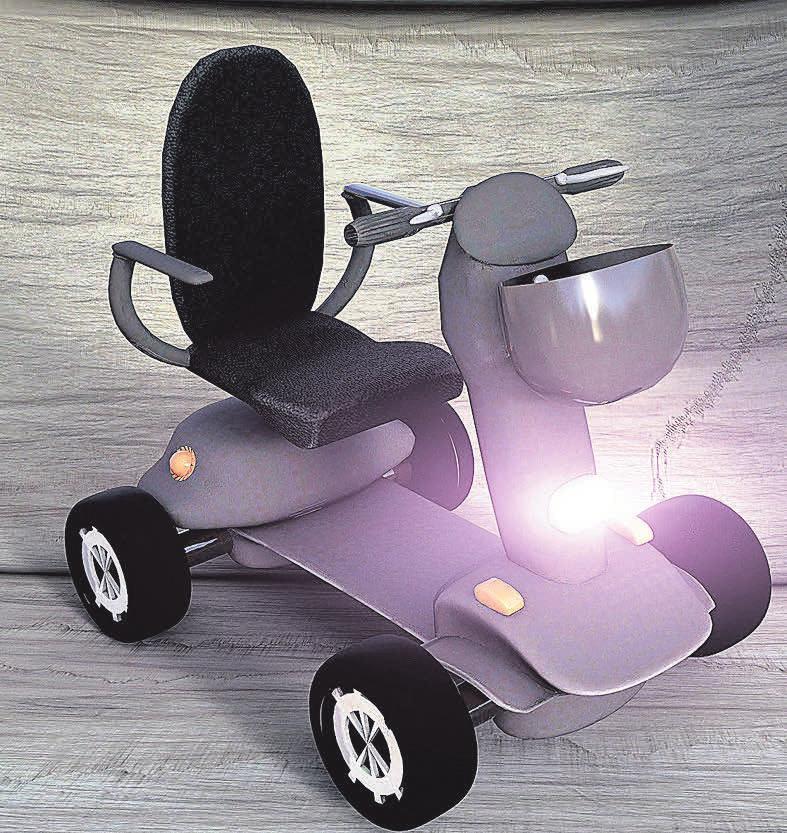 Mit diesem Fahrzeug wird es geheingeschränkten oder pflegebedürftigen Menschen ermöglicht, weiterhin mobil zu bleiben.