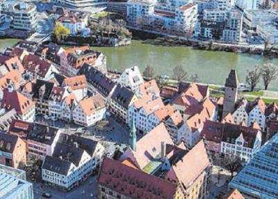 Den Ulmer aufs Dach ducken ... 5 EuroFOTO: LARS SCHWERDTFEGER