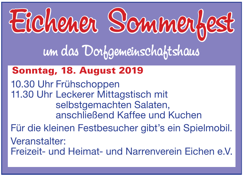 Eichener Sommerfest