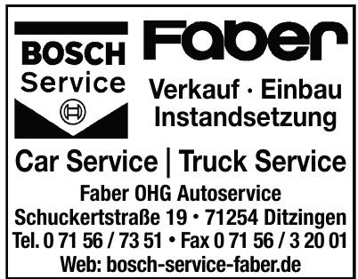 Faber OHG Autoservice