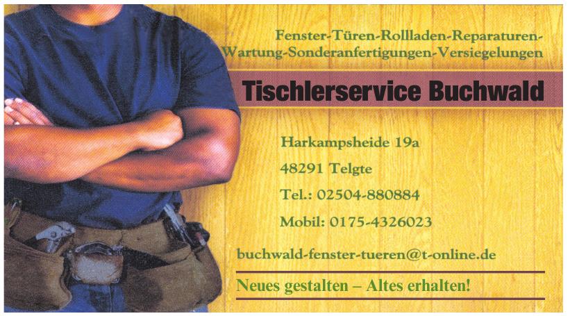 Tischlerservice Buchwald