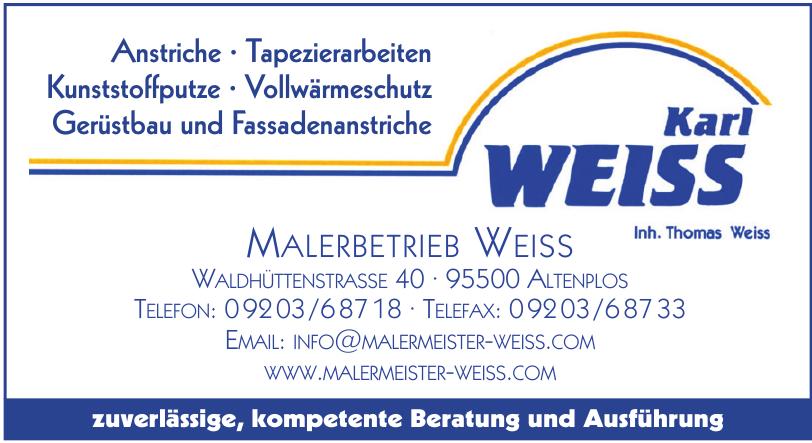 Karl Weiss Malerei