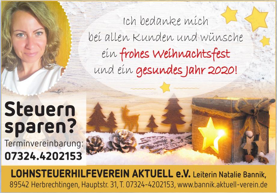 Lohnsteuerhilfeverein Aktuell e.V.