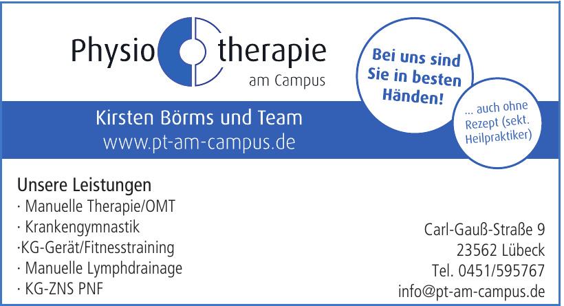 Physiotherapie am Campus - Kirsten Börms und Team
