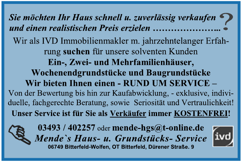 Mende`s Haus- u. Grundstücks-Service