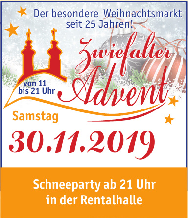 Zwiefalter Advent Schneeparty