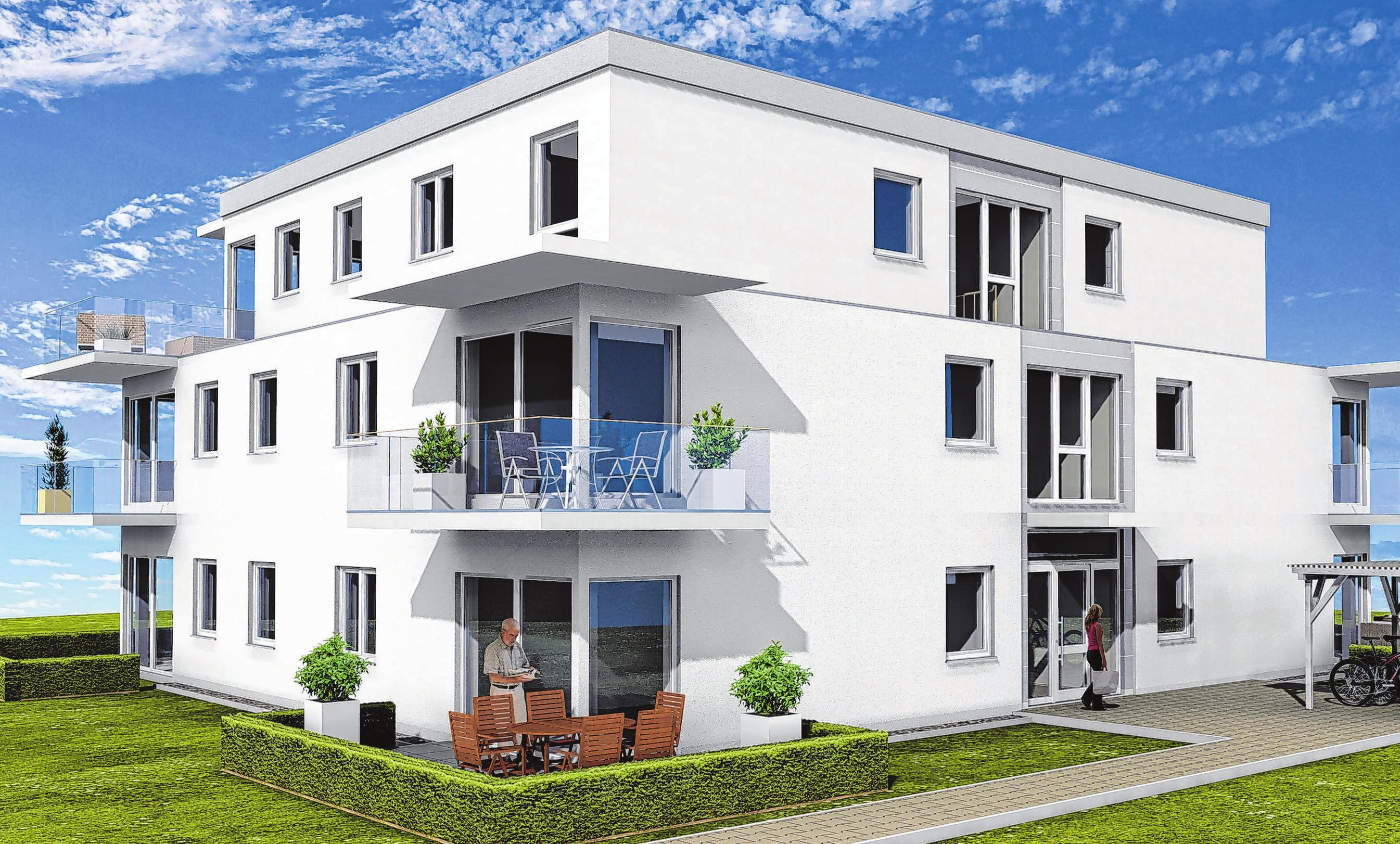 Modern, zweckmäßig und komfortabel zugleich sollen die Eigentumswohnungen in der Neuruppiner Scholtenstraße den Käufern angeboten werden. Foto: Kaatzsch-Immobilien