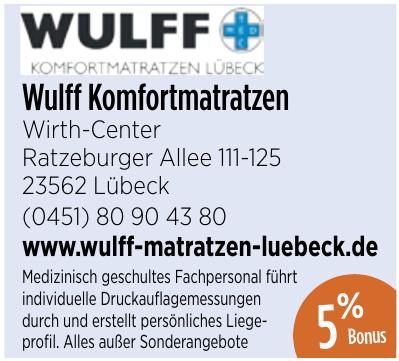 Wulff Komfortmatratzen