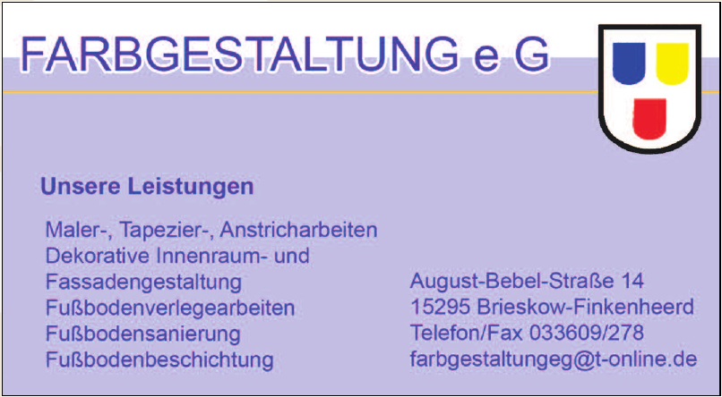 Farbegestaltung e G