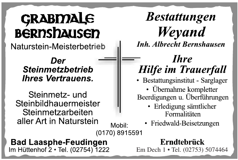 Grabmale Bernhausen