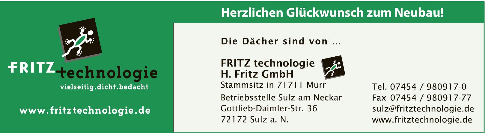 FRITZ technologie H. Fritz GmbH