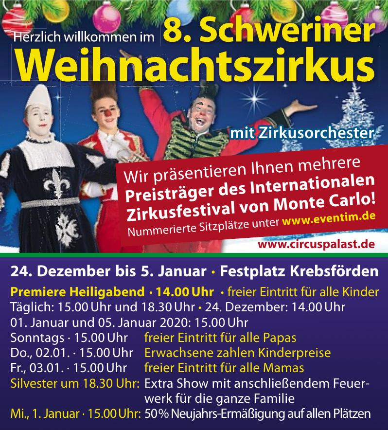 8. Schweriner Weihnachtszirkus