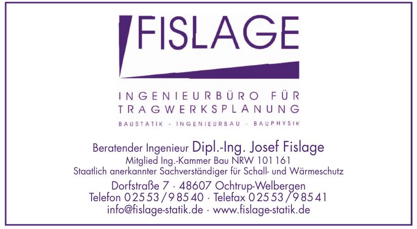 Beratender Ingenieur Dipl.-Ing. Josef Fislage