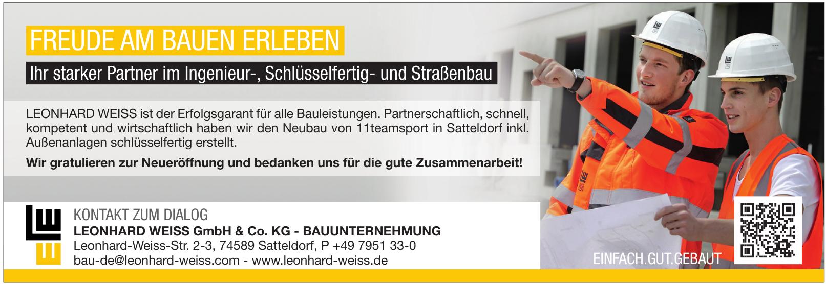 Leonhard Weiss GmbH & Co. KG - Bauunternehmung