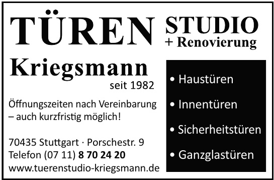 Türen Studio Kriegsmann