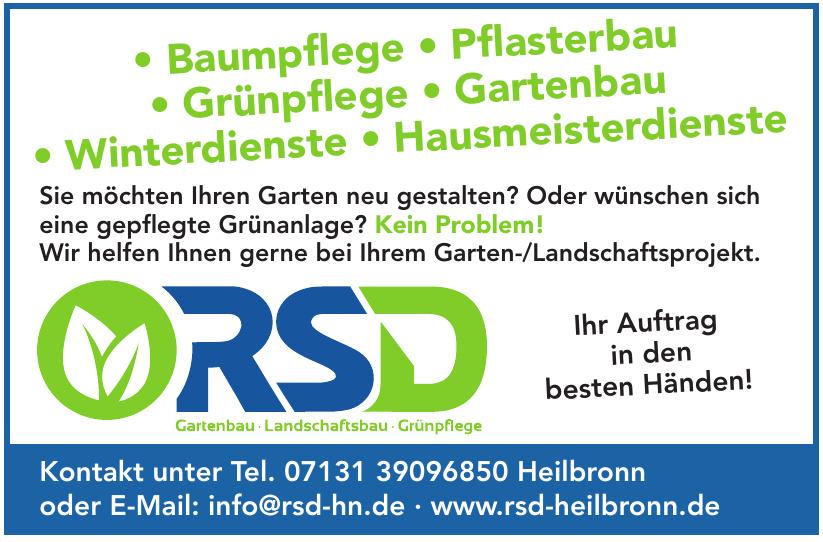 RSD Gartenbau Landschaftsbau Grünpflege